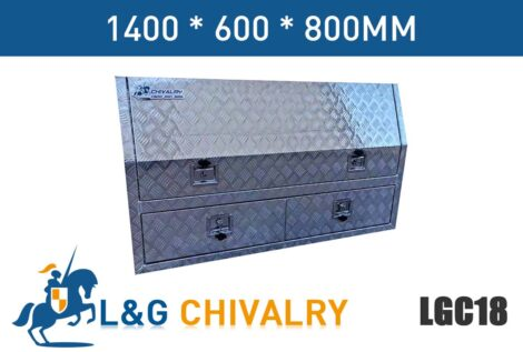 1400mm Half Lid Toolbox With Drawers Check Plate