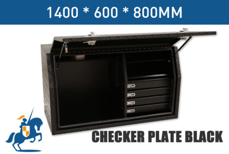 6 1400 600 800 Checker Plate Black